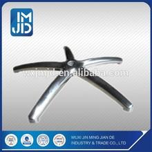 Medium sized aluminum die casting five foot base