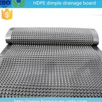 HDPE dimpled drainage sheet for green roof 6mm/8mm/10mm