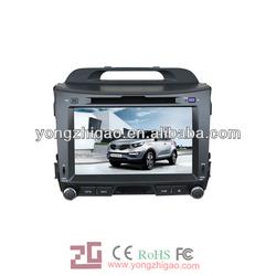 car dvd gps navigation forKIA Sportage 2011 car dvd built-in gps/bt/am/fm/radio/tv