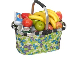 collapsible small cloth supermarket shopping basket foldable shopping bag