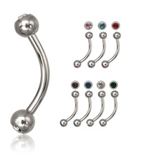 BODY VIBE MICRO EYEBROW WITH GEM BALLS Eyebrow Ring fashion Piercing jewelry wholesale