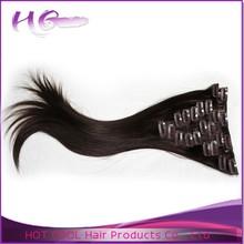 Aliexpress hair top quality malaysian hair extension clip in hair extension