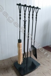 Forged Metal Fireplace Tool Sets
