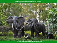 Hot selling bronze building yard put elephant statue
