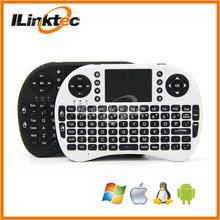 Custom 2.4g wireless keyboard, multi language optional wireless mini keyboard with multi-touchpad for Smart tv