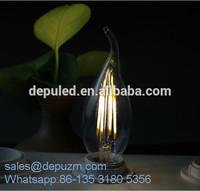 Zhongshan China led bulb glass E27 2w 4w 6w carbon filament bulb