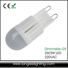 G9 Dimmable 3W 250lm SMD LED Pure/Warm White Lights Ceramic Bulb Light 220V-240V