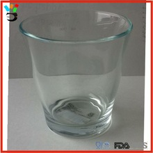7 oz tulip shape drinking glass machine pressed solid glass