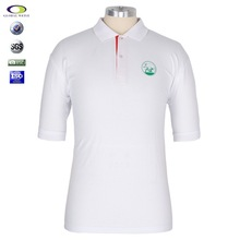 2015 customised White branded polo t shirt designs