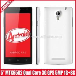 High quality Eshine mobile phone MTK6582 quad core android mobile phone unlocked 2.0mp+5.0mp mobile phone 1G + 8G QHD ES8823HA