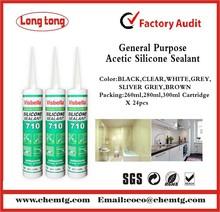 Professional Manufacturer 300ml Acetic 710 general purpose Silicone Sealant
