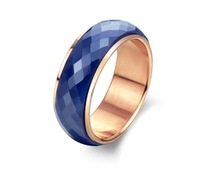 Wholesale High Quality Ceramic Inlay Tungsten Ring Faceted 8mm