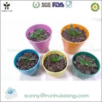2015 hot sale bio bamboo fiber mini flower pots on balcony