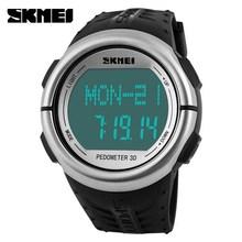 5ATM Depth Waterproof Leisure Sports Watch,Multifunctional Double Time Zone wrist watch heart rate monitor