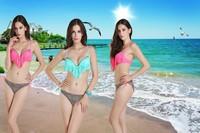 Sexy Women's Beach Bathing Suit Favor Padded Tassels Boho Fringe Bikini Set Top and Bottoms Swimwear Swimsuit