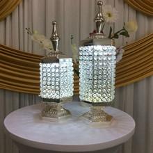 wedding decoration items centerpieces crystal muslim style LED light