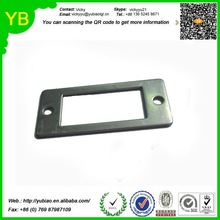 custom stamping stainless steel parts square shape with two holes