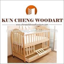 White Crib Wood Baby Crib Multi-function Baby Crib With Storage Drawer