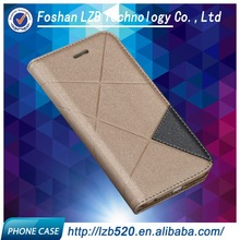 LZB pu leather flip cover case for samsung galaxy s4 with stand