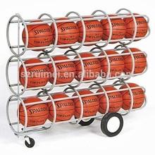 Metal 3-tier removable basketball rack