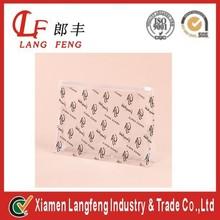 Transparent zipper seal of plastic bag with pencil case