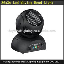 DMX512 stage disco led wash moving head light / night club / DJ led moving head wash light RGB Mixing color