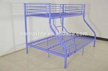 Bedroom furniture black metal triple bed BD-7025 Purple