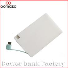 G008 universal battery charger ultra thin card power bank portable powerbank 2500mah/credit card power bank