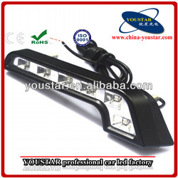 Cheap 100% waterproof highway 12V led drl car vw polo led daytime running light made in china