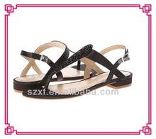 2015 fashion lady summer sandals new design woman lace up flat sandals!HOT Flip Flop sandals for women!