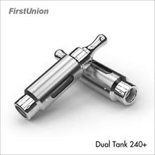 Hot e-cig atomizer dual tank 240+ mixed flavor hookah pen vaporizer