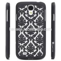 For Samsung Galaxy S4 i9500 Damask Pattern Rubber Matte Hard Back Case Cover