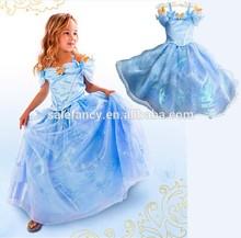 Cenicienta vestidos para niñas vestido de traje de cenicienta qkc-2299