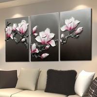 Factory price magnolia flower decor painting, pop art decor painting, gem decor painting
