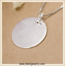 Custom Engraved Silver Coin/Personalized sterling silver jewelry tags,Paypal accepted(SP-061)