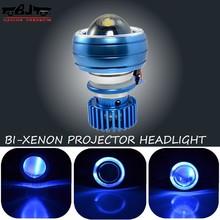 Bj-hl-002 neuankömmling wasserdicht bi- xenon-projektor 18w fernlicht motorrad scheinwerfer