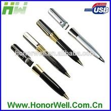 Shinning Soft Touch Handwriting Metal 4GB Usb Flash Pen Usb Flash