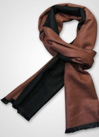 Brand Factory price high quality men shawl silk brushed pure scarf