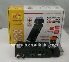 2015 High Quality Mini Scart HD DVB-T Receiver 1080P FUll HD with PVR Tansmitter Fs-818t Set Top Box