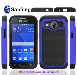 Most popular 4G LTE phone case for Samsung galaxy ace 4 ballistic case / heavy duty case for Samsung ace 4 LTE back cover