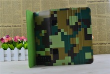 New Washable and reusable camouflage patterns design hard leather case cover for ipad air