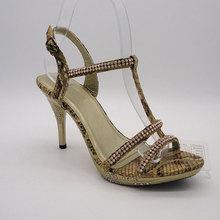 stylish and metallic hemp rope high heel sandals