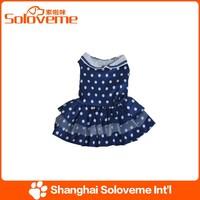 2015 Hot sale white dots dog clothes dress