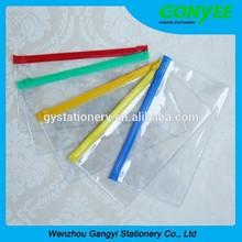 clear transparent zip lock plastic PVC bag different sizes