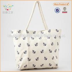 Practical Canvas Straw Beach Bag Straw Handbag