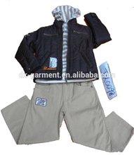 fashion winter kids clothes 3 pieces set 2014