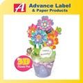 olla de bricolaje decoración de flores de papel