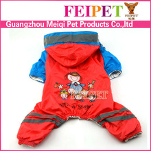 fashion cartton pattern dog pet raincoat with four legs highly eaterproof
