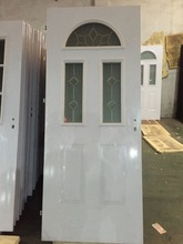 white color glass insertion french steel doors and windows