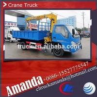 Foton Forland 4*2 basket crane, 1ton truck mounted crane, 103hp China truck mounted crane manufacturer